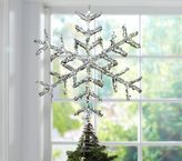 Pottery Barn Kids Glitter Snowflake Tree Topper