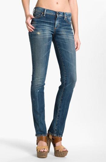 Citizens of Humanity 'Ava' Straight Leg Stretch Jeans (Slash)