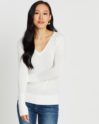 SABA Women's Jumpers - Laura V-Neck Knit - Size One Size, XS at The Iconic