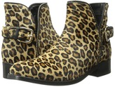 Just Cavalli Leopard Pony Hair Ankle Boot
