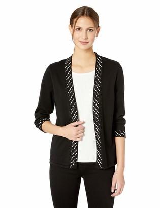 Alfred Dunner Women's Pearl Beaded Twofer Sweater