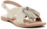 Callisto Leia Crisscross Tassle Flat Sandal