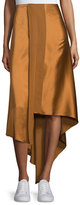 Elizabeth and James Sydney Silk Satin Midi Skirt, Coppertone