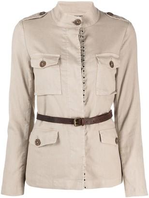 Bazar Deluxe Belted Shirt Jacket