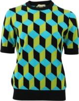 Michael Kors Deco Cube Intarsia Knit