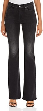 7 For All Mankind Ali High-Waist Flared Jeans in Dark Ash