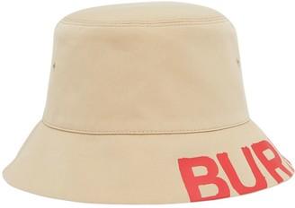 Burberry Logo-Print Reversible Bucket Hat