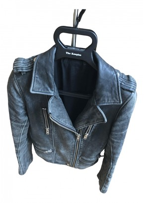 IRO Khaki Leather Jacket for Women