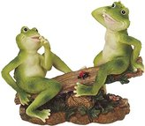 George S. Chen Imports SS-G-61041 2 Frogs on Seesaw Garden Decoration Collectible Figurine Statue Model
