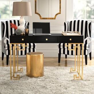 Willa Arlo Interiors Bingley 3 Drawer Desk Willa Arlo Interiors Color (Top/Frame): White Lacquer