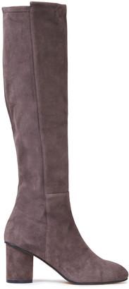 Stuart Weitzman Eloise 75 Paneled Suede Knee Boots