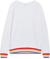 The Upside Rainbow Sid Flocked Cotton-terry Sweatshirt - Light gray