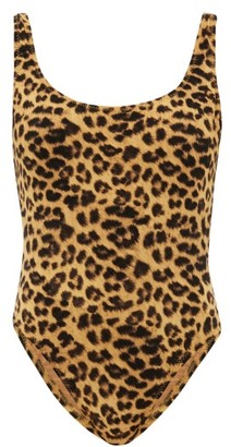 Norma Kamali Mio Low-back Leopard-print Swimsuit - Leopard