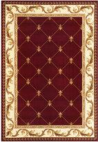 """Kas Corinthian 5319 Red Fleur-de-Lis 3'3"""" x 4'11"""" Area Rug"""