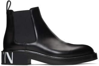 Valentino Black Garavani VLTN Chelsea Boots