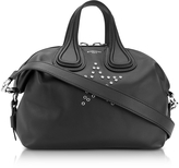 Givenchy Nightingale w/Stars Black Leather Satchel Bag