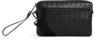 Bottega Veneta Leather Intrecciato Wash Bag