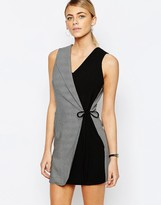 Love Overlay Tuxedo Dress in Fishbone