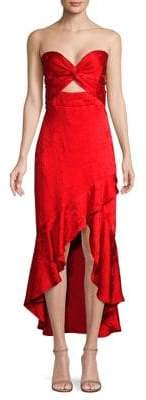 Shoshanna Amalia Strapless High-Low Dress
