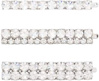 Alessandra Rich set of three crystal-embellished hair pins