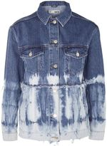 Topshop Moto tie dye denim jacket