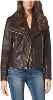 Michael Kors Asymmetric-Zip Leather Jacket