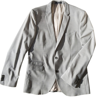 Selected Grey Synthetic Suits