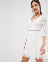 Lipsy Long Sleeve Lace Dress