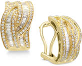 Effy D'Oro by Diamond Hoop Earrings (1-3/8 ct. t.w.) in 14k Gold