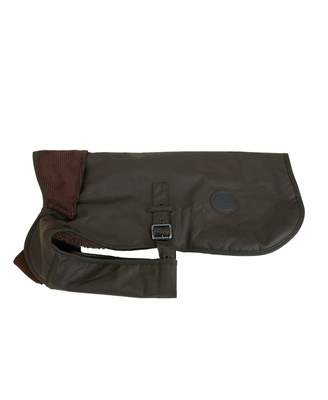 Barbour Utility Fleece Lined Wax Dog Coat Colour: OLIVE, Size: SMALL