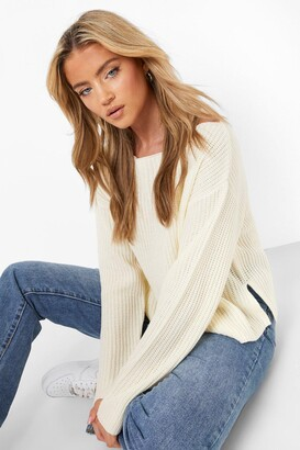 boohoo Off The Shoulder Slouchy Sweater