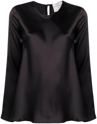 Forte Forte Long-Sleeve Silk Blouse