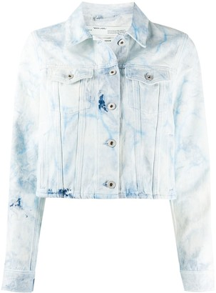 Off-White Bleached Cropped Denim Jacket