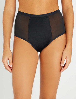 THINX High-waist stretch-organic cotton briefs
