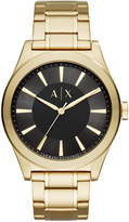 Armani Exchange Men's Nico Gold-Tone Stainless Steel Bracelet Watch 44mm AX2328
