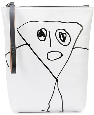 Plan C Graphic Print Clutch Bag