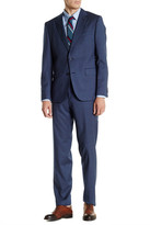 HUGO BOSS Blue Two Button Notch Lapel Wool Suit