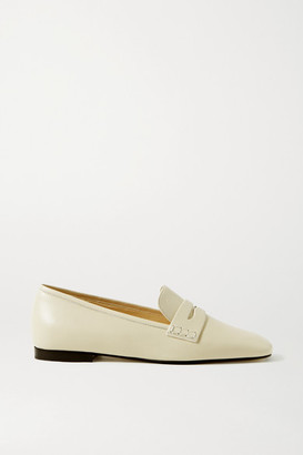 KHAITE Leather Loafers - Off-white