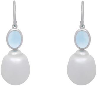 Heritage 14K 1.60 Ct. Tw. Diamond & Topaz Drop Earrings