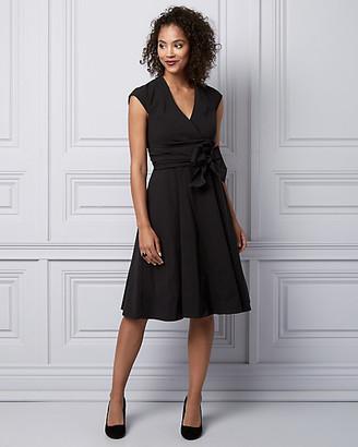 Le Château Bengaline V-Neck Wrap-Like Dress