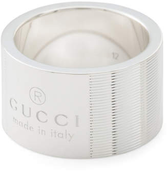 Made In Italy Sterling Silver Trademark Thick Band Ring