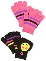 capelli new york (Girls 7-16) Two-Piece Emoji Gloves Set
