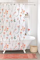 Urban Outfitters Georgina Floral PEVA Shower Curtain