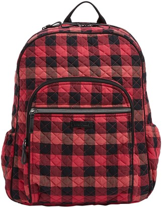 Vera Bradley Buffalo Check Iconic Campus Backpack