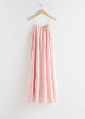 And other stories Gathered A-Line Maxi Dress