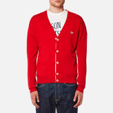 MAISON KITSUNÉ Men's Virgin Wool Classic Cardigan Red