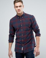 Pull&Bear Regular Fit Checked Shirt In Red And Blue