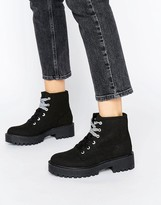 Pull&Bear Lace Up Work Boot