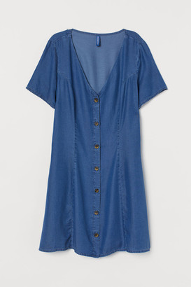 H&M Lyocell Denim Dress - Blue