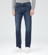 Reiss Reiss Tenda - Slim-fit Washed Jeans In Blue